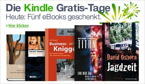 Amazon: Kindle Gratis Tage