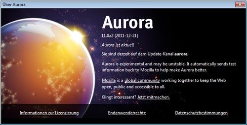 Mozilla: Firefox 11 Aurora