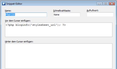 Code-Verwaltung von WeBuilder