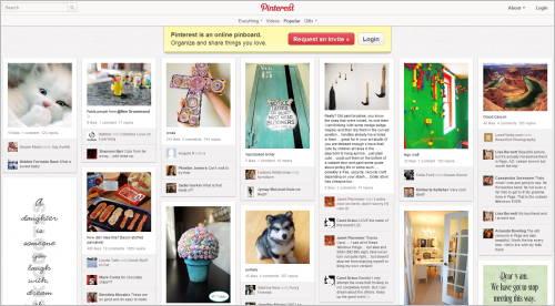 Pinterest-Startseite