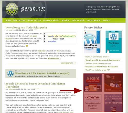 Werbung auf perun.net schalten