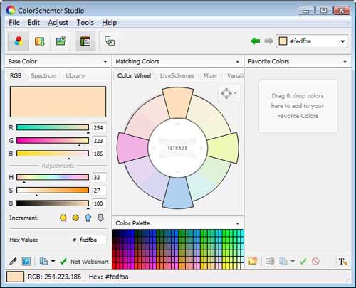 ColorSchemer Studio: das Farbrad