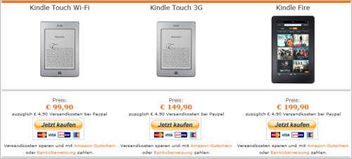 Kindle Fire über MexxBooks kaufen