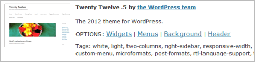 WordPress 3.4: Twenty Twelve