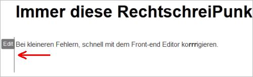 WordPress: Front-end Editor im Einsatz