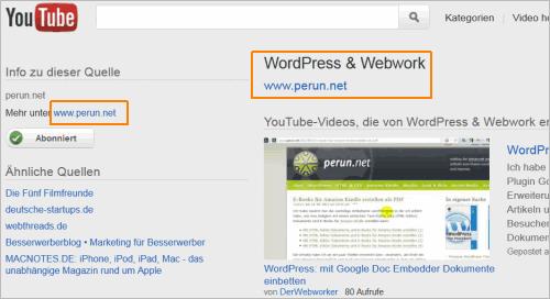 YouTube: automatische Seite für Blogs