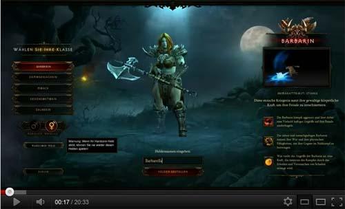 Diablo III auf YouTube