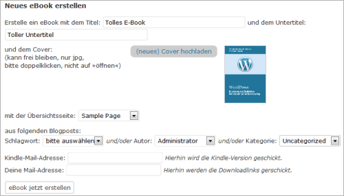 WordPress2eBook