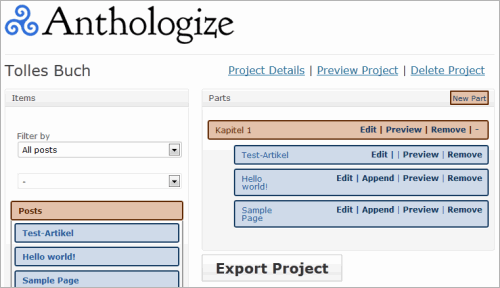 WordPress Anthologize