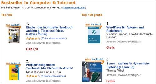 Amazon-Aktion: Platz eins aller kostenlosen Computer-Bücher