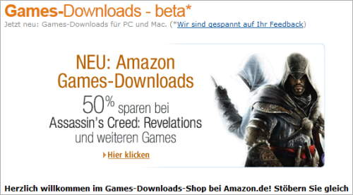 Spiele-Download auf Amazon