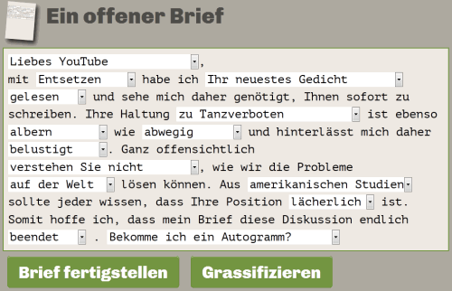 Offener-Brief-Generator