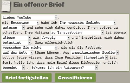 Offener-Brief-Generator