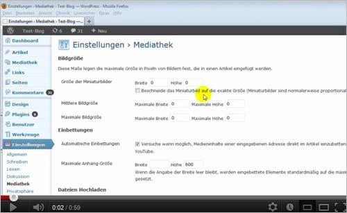 [Video] WordPress: automatische Erstellung von Vorschaubilder deaktivieren