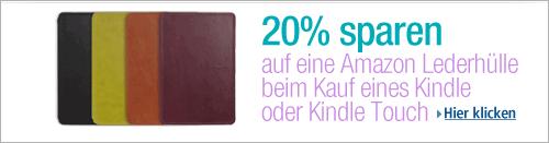 Amazon Kindle: 20% Rabatt auf Lederhüllen