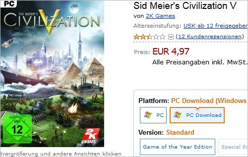 Civilization 5 im Angebot