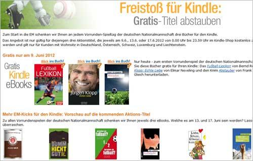 Amazon verschenkt Kindle-Bücher zum Thema Fußball