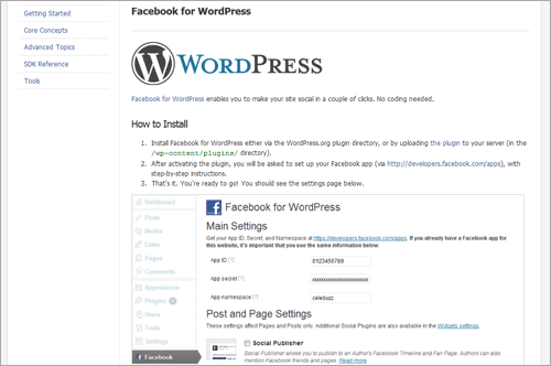 Facebook für WordPress