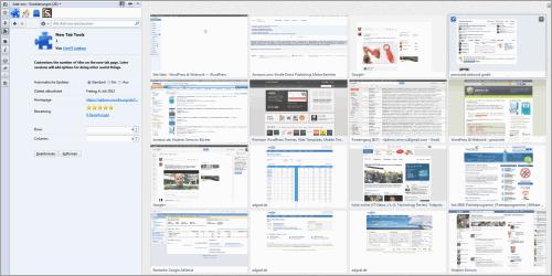 Mehr Seiten im neuen Tab von Mozilla Firefox