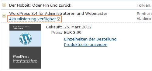 """Aktualisierung im """"Mein Kindle""""-Bereich verfügbar"""