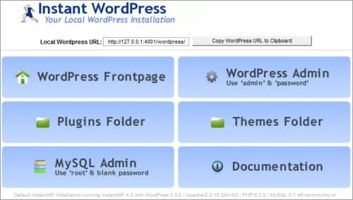 Instant WordPress einrichten