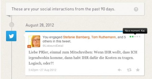 Klout Zeitstrahl