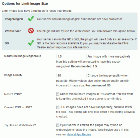 WordPress-Plugin: Limit Image Size