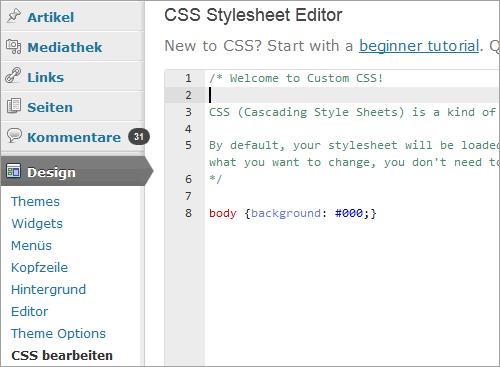 WordPress: der CSS-Editor von Jetpack