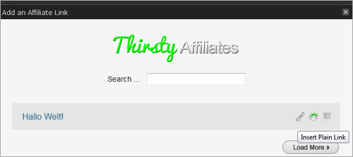 ThirstyAffiliates: Links in WordPress einbinden