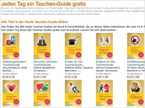 Täglich kostenloser beruflicher Ratgeber für Amazon Kindle