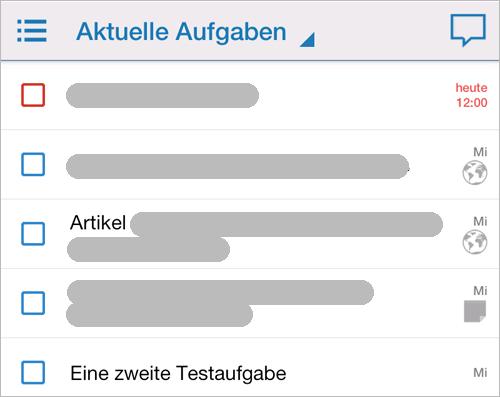 Astrid-App auf Samsung Galaxy Note