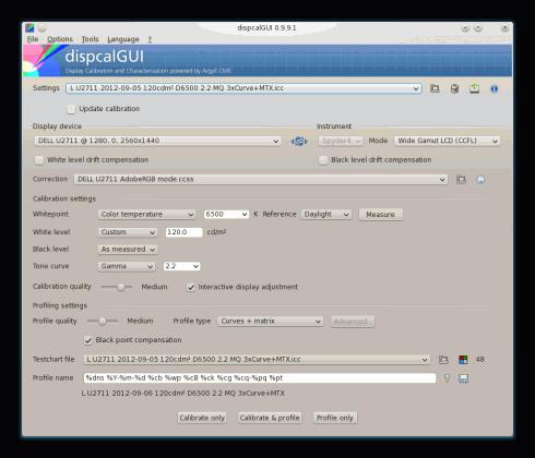 dispcalGUI-Screenshot