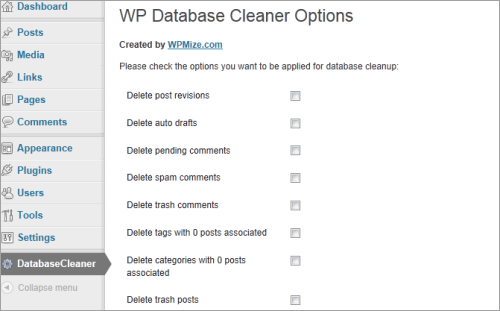 WordPress: Database Cleaner