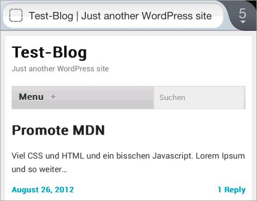 WordPress: Jetpack mit seinem mobilen Theme im Einsatz