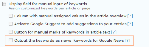 wpSEO 3.0.4 mit News-Keywords