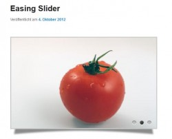 Easing Slider in einem Artikel