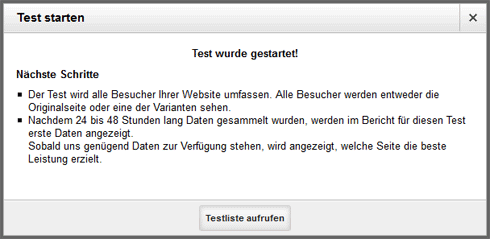 A/B-Test in Google Analytics: Schritt 4