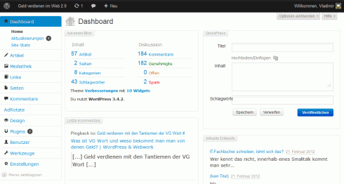 WordPress: Bootstrap Admin