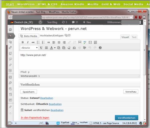 WordPress: Press This erweitern