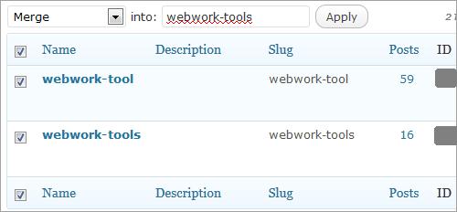 WordPress: Tags zusammenfassen