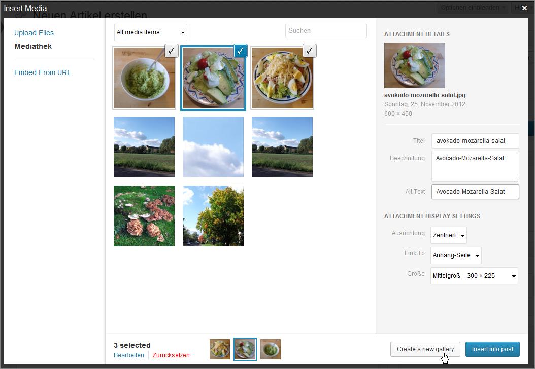 Galerie-Funktion und Anhang-Seite in WordPress 3.5 » perun.net