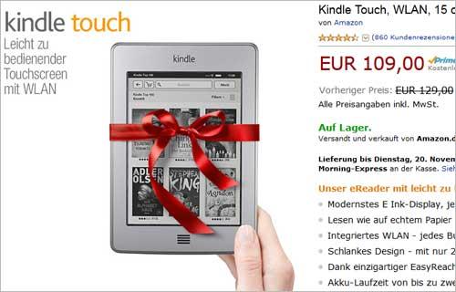 Amazon.de: Preis für Kinlde Touch wurde gesenkt