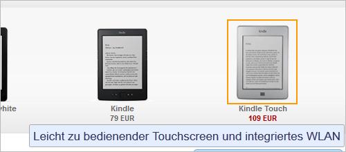 Amazon Kindle Touch wieder verfügbar