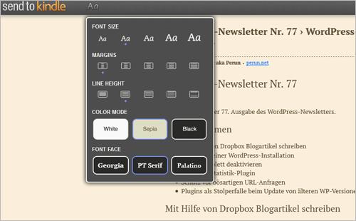 Senden an Kindle für Mozilla Firefox (2)