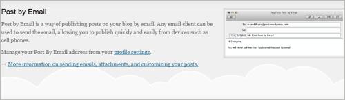 WordPress und Jetpack: bloggen via E-Mail