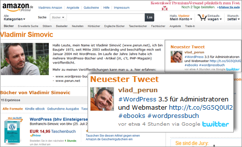 Eigenen Twitter-Account auf Amazon Author Central einbinden