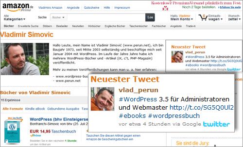 Eigenen Twitter-Account auf Amazon Author Central einbinden