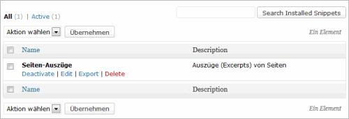 WordPress: Funktionen aus dem Backend heraus verwalten
