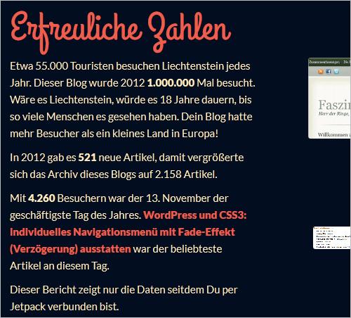 WordPress_ Jahresrückblick mit Jetpack