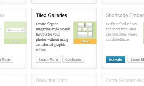 WordPress: Aktivierung von Galerie-Funktion in Jetpack